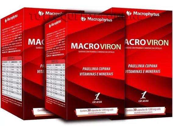 Macroviron 1200mg 3 Unidades De 30 Caps Macrophytus