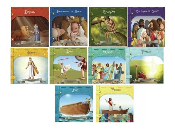 Coleção Classicos Bíblicos - Daniel,davi,noe,paulo (10vol.)