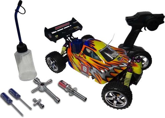 Automodelo Combustão 2 Marchas Himoto + Brinde Kit Starter