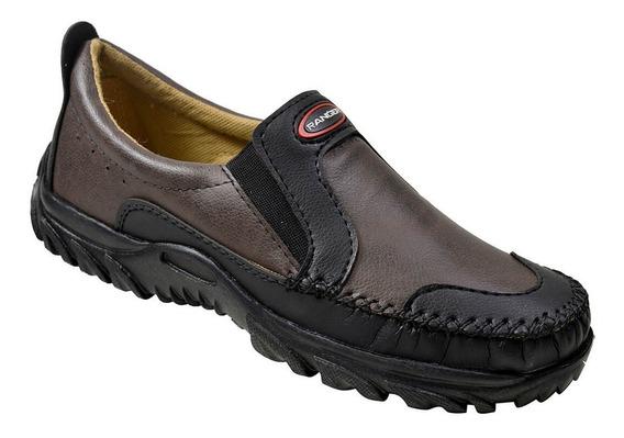 Sapato Masculino Ranger - Café/preto Em Promoção!
