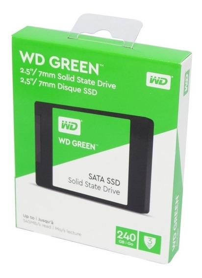 Hd Ssd 240gb Wd Green Leitura 540mb/s Sata 3 2,5 Western Dig