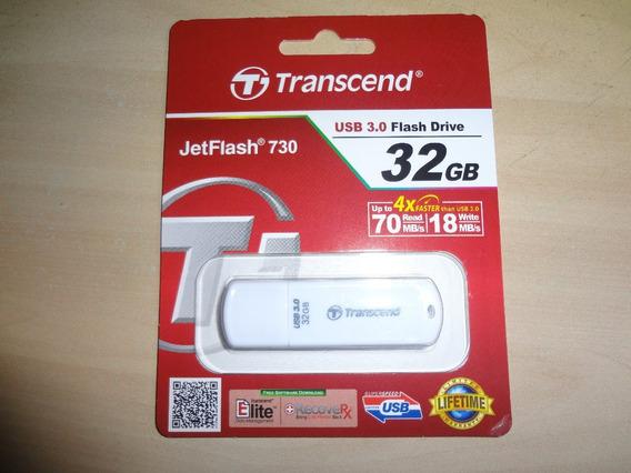 Pen Drive 32gb Transcend Usb 3.0 Full - Espetacular !