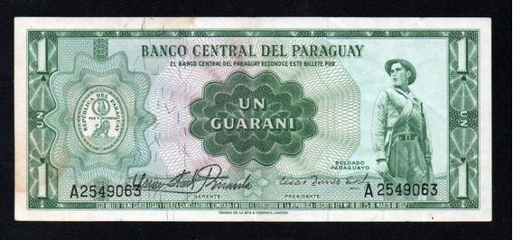 Paraguay Billete 1 Guarani Año 1952 P#192 Reverso Diferente