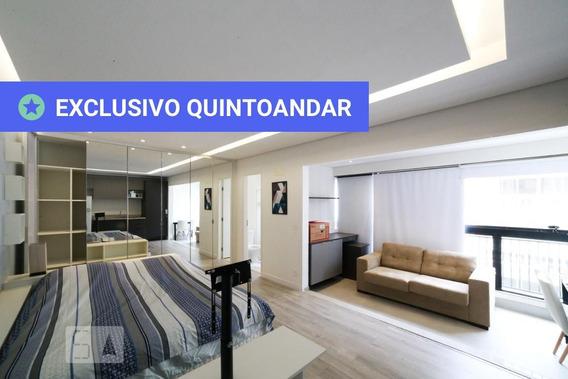 Studio No 7º Andar Mobiliado Com 1 Dormitório E 1 Garagem - Id: 892981091 - 281091