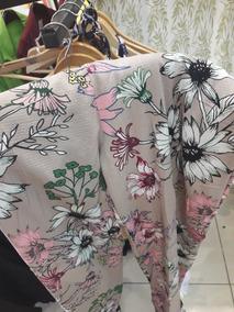 Macacão Macaquinho Pantalona Estampa Floral Longo