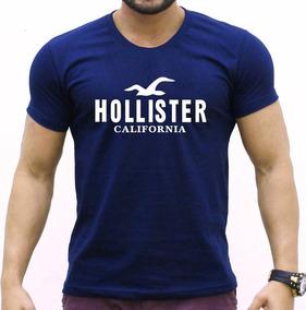 Camisa Azul Hollister Abercrombie Masculina Varias Cores