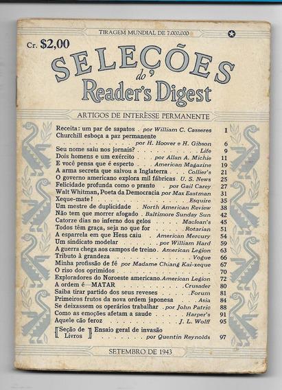 *sll* Revista Seleções Do Readers Digest - Setembro De 1943