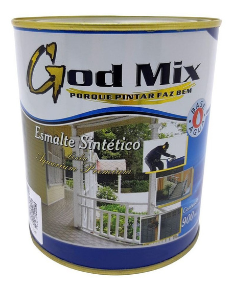 Tinta Esmalte Sintético Base Água Sem Odor 900 Ml God Mix