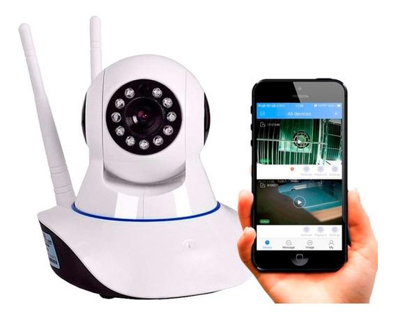 Câmera Ip Wifi Visão Noturna P2p Microfone Cartão Sd Celular