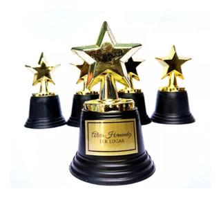 1 Trofeo Estrella Premio Estatuilla Dorada Awards 12cm Oscar