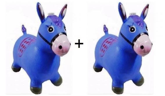 2 Burro Cavalinho Verde Azul Rose Brinquedo Inflável C/ Som