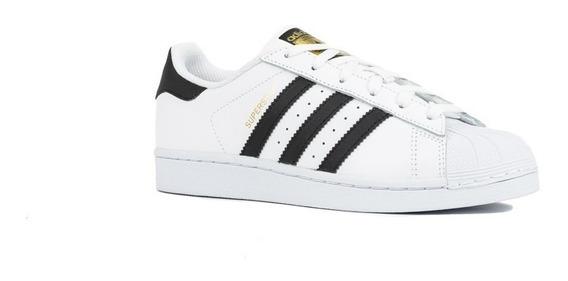 Tenis adidas Superstar Concha Blanco/negro C77154
