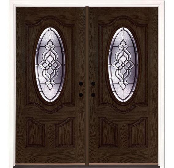 Puerta Principal Contemporánea Fibra De Vidrio Americana Xv
