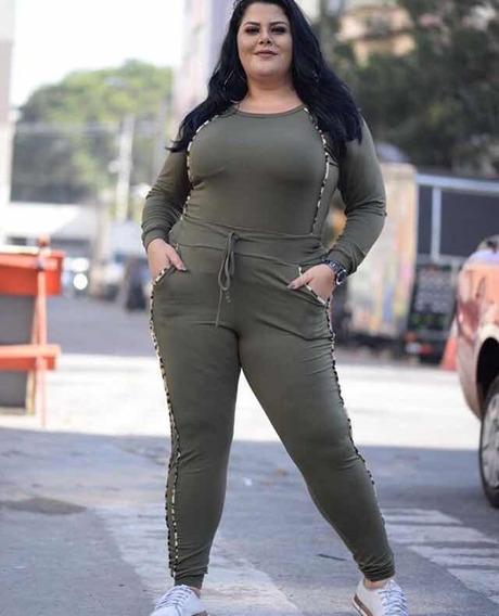 Conjunto Em Viscolycra Calça E Blusa Viés De Onça Plus Size