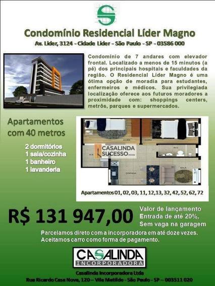 Studio Com 2 Dormitórios À Venda, 40 M² Por R$ 131.947 - Itaquera - São Paulo/sp - St0031