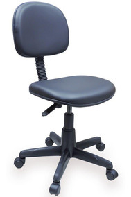 Cadeira Secretaria Giratória Em Couro Ecológico Courvin