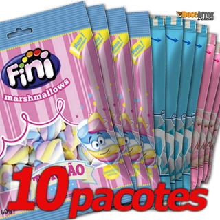 Kit Doce Para Festa Marshmallow Fini Torção 10 Sortidos 250g