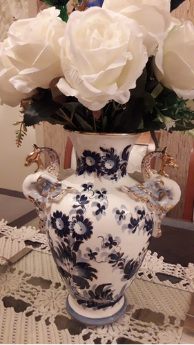 Imagem 1 de 6 de Vaso Porcelana Esmaltada Antiquíssimo Da Década De 50!!