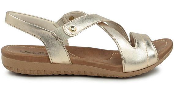 Sandália Tiras Metalizada Usaflex