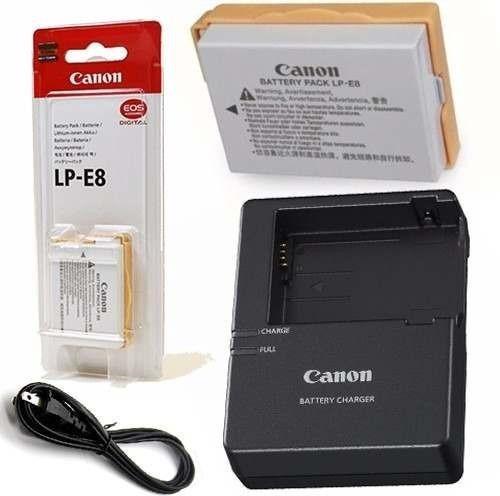 Carregador E Bateria Canon Lp-e8 Original Com Nfe E Garantia
