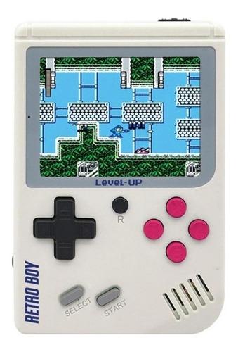 Level Up Retroboy White Consola Portatil 168 Juegos Clasicos