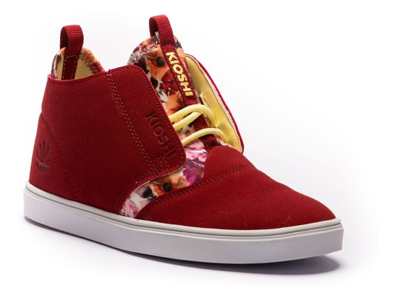 Zapatillas Kioshi Chukin Women Burgrundy Flowers
