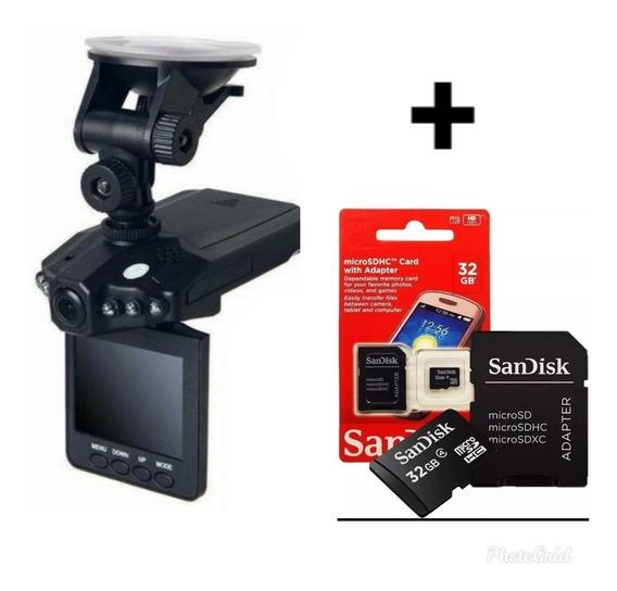 Camera 1080p Filmadora Veicular Automotiva Hd + Cartão 32gb