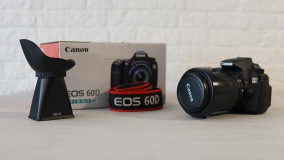 Câmera 60d Canon - Lente 18-135mm + Acessórios