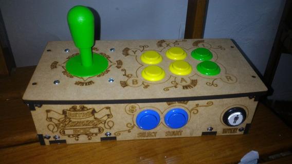 Manete Fliperama Arcade Para Ps1 Ps2 E Pc Para 1 Play!