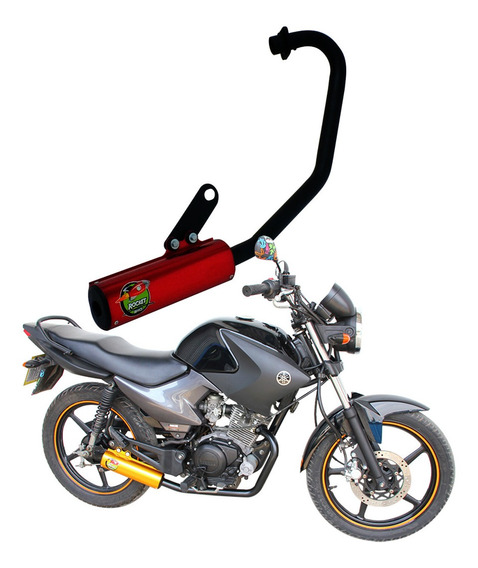 Escapamento Ybr 125 Factor 08/... Vermelho Mod. Rocket