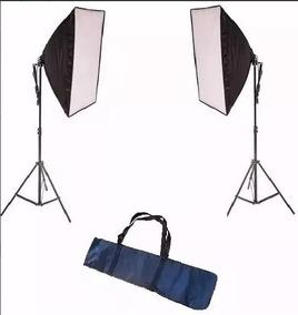 Kit Luz Continua C/ 2x Soft 50x70cm E27+ 2x Tripé+bag S/lâmp