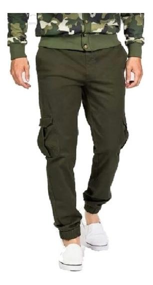 Pantalon Gabardina Con Puño Bolsillo Jogger Hombre