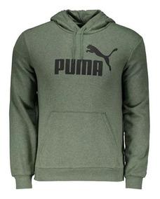 Blusa Moletom Puma Essentials Verde Ess+ Hoody Tr 852424 23