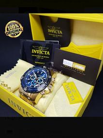 Invicta Pro Diver 24856 Banho Ouro18k Original.fundo Azul