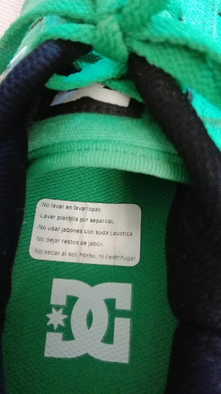 Zapatillas Dc Talle 38 Color Verde Un Sólo Uso