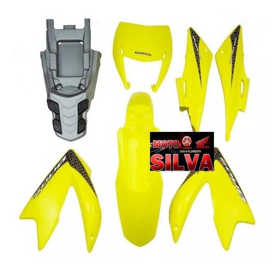 Kit Carenagem Plásticos Bros 150 2009 Amarela C/ Adesivos