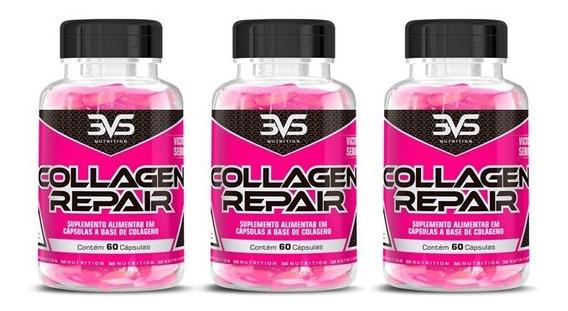 Combo 3x Colágeno 60 Caps 3vs