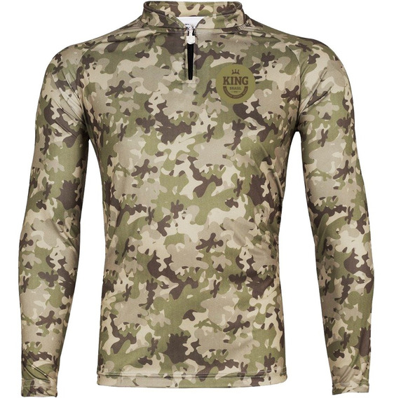 Camiseta Para Pesca King Brasil Outdoor Masculina Viking 15