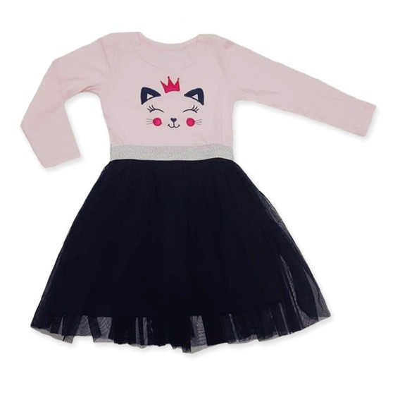 Vestido Tutu Gato Nena Niña