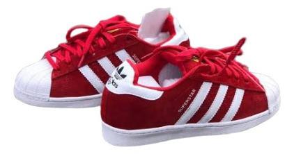 adidas Super Star Camurça Vermelho