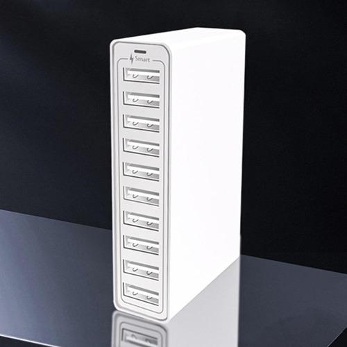 Imagen 1 de 9 de Dispositivo Multicargador De 10 Puertos Usb Carga Rápida 50w