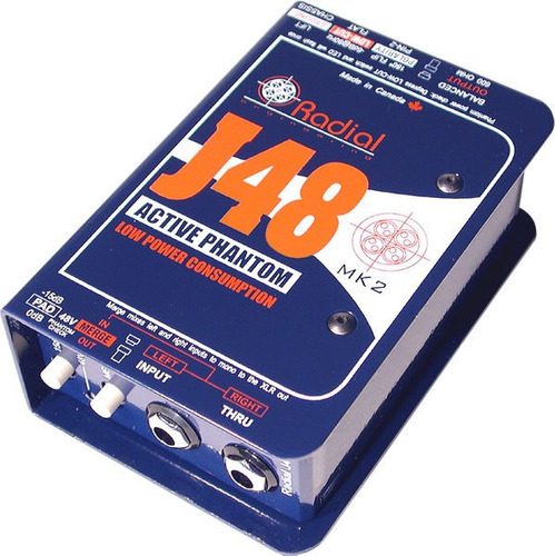 Radial Caja Directa Activa Phantom Power J48 Envio Gratis