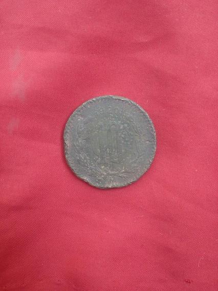 10 Centavos 1921 Copper Coin Cod 0020
