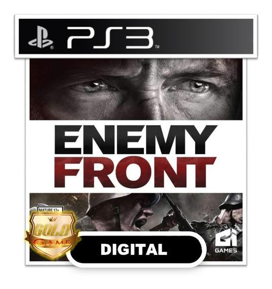 Enemy Front Ps3 Psn Midia Digital Envio Hoje Jogos Baratos