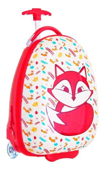 Mala Viagem Escolar Infantil C/ Rodas Raposa Fox Resistente