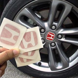 5 Adesivos Emblema Calotinha Tampa Roda Honda Civic Type R