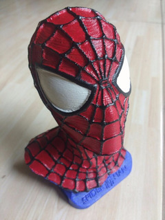 Busto De Spiderman Impresion 3d - Marvel Heroes Coleccion