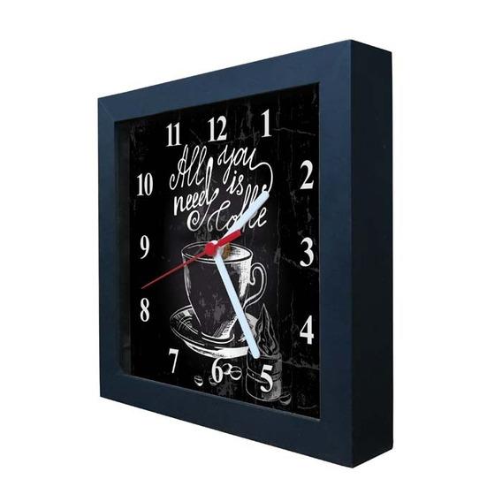 Relógio Decorativo Caixa Alta Tema Café - Qw010