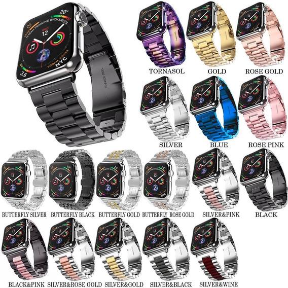 Correa De Eslabones Acero Inoxidable Apple Watch Serie 4