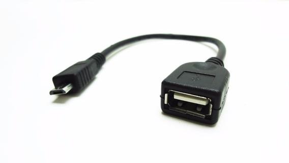 Cable Otg Micro Usb Macho A Usb Hembra Adaptador Tablet 4pza